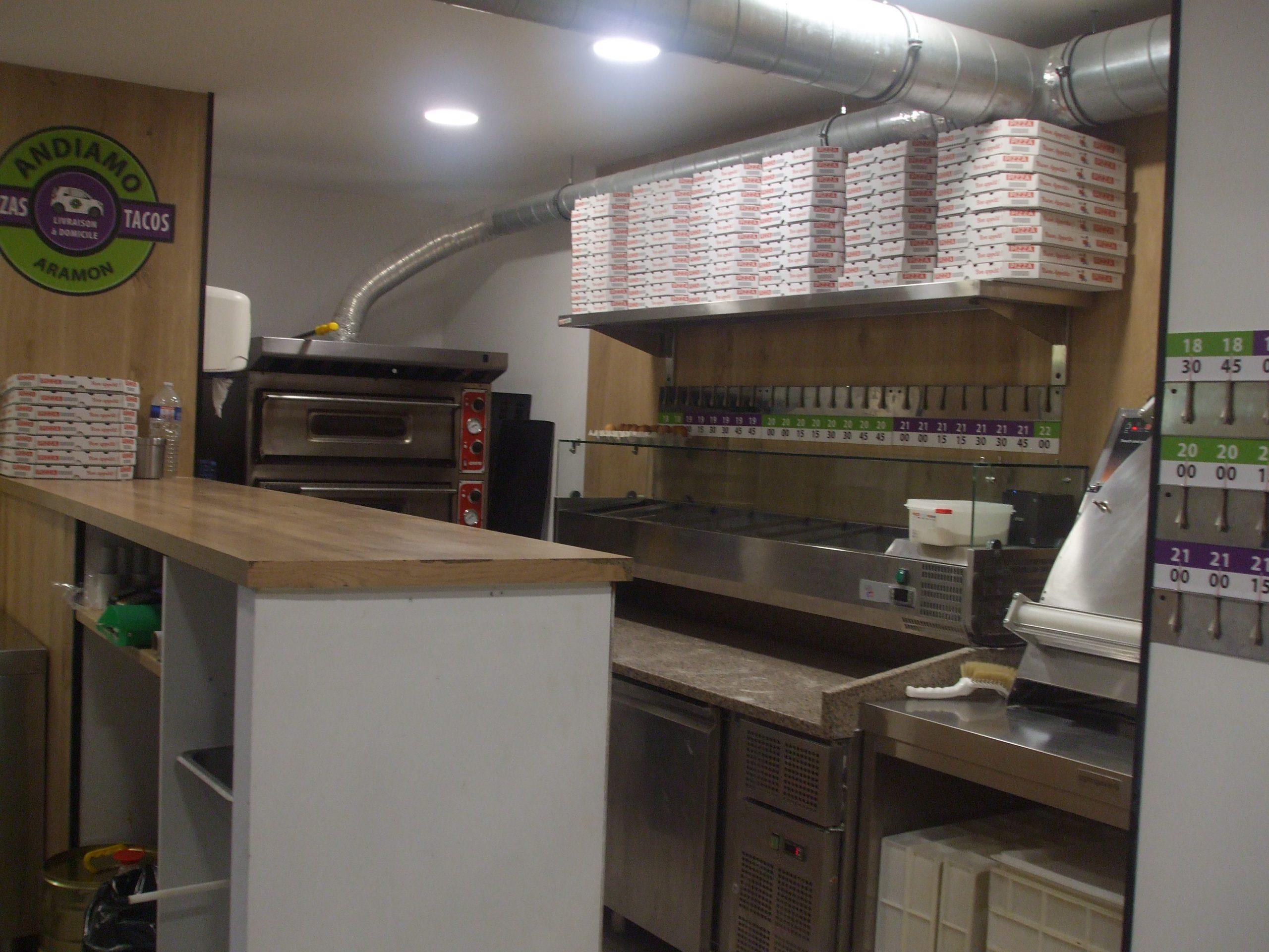 Fonds de commerce Pizzas à emporter + Tacos